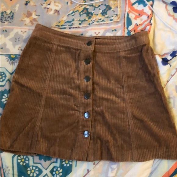 679cd35786 Zara Skirts   Brown Corduroy Miniskirt Size S Worn Once   Poshmark